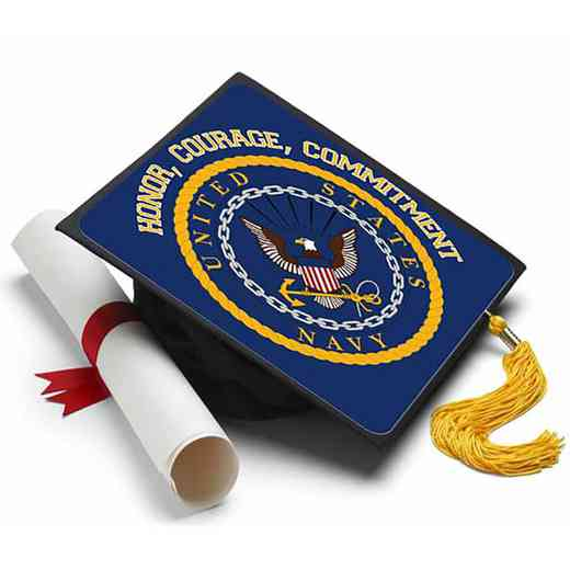 NAVYHONOR: Navy - Honor - Courage - Commitment Grad Cap Tassel Topper